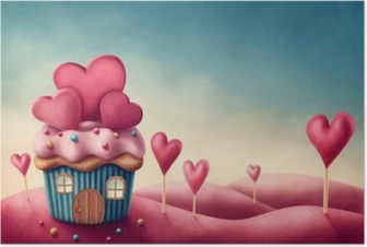 Fantasy cup cake house Poster