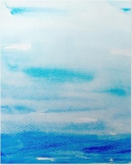 Poster Färg stroke akvarellmålning konst