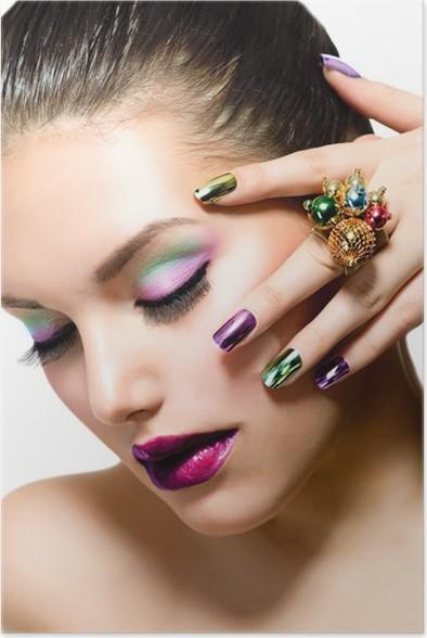 Fashion Beauty Manicure And Make Up Nail Art Poster Pixers We