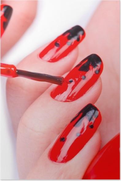 Poster Fashion Concept Met Nail Art Pixers We Leven Om Te