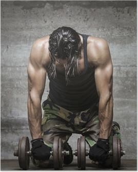 Poster Fatigué athlète musculaire