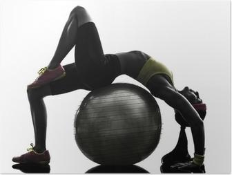 Poster Homme exerçant la formation de suspension TRX silhouette • Pixers® -  Nous vivons pour changer 67515c50edc