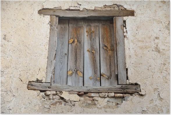 Fenetre Rustique poster fenêtre rustique • pixers® - nous vivons pour changer