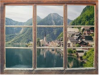 Poster Fensterblick Hallstatt