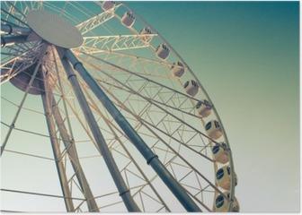ferris wheel against Poster
