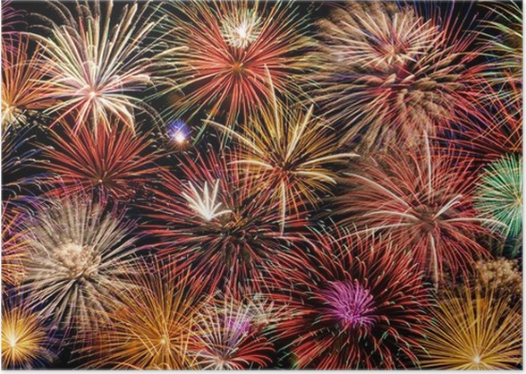 festive and colorful fireworks display poster pixers we live to