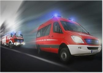 Feuerwehreinsatz Poster