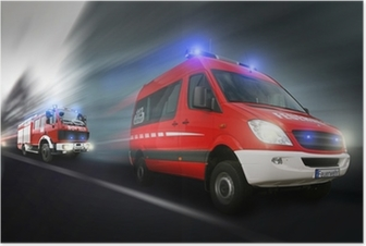 Poster Feuerwehreinsatz