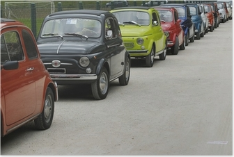 Poster Fiat 500 Rally