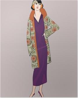 Poster Filles d'aileron (le style de 20): Rétro partie de mode