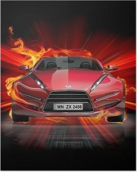 Fire car Poster