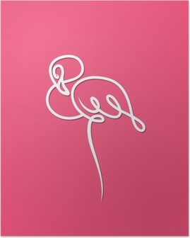 Poster Flamant rose oiseau