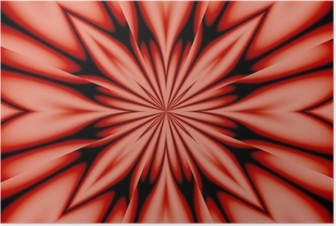 Poster Fleur de soie - rose