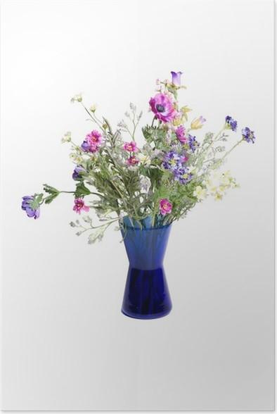 Poster Fleurs Sauvages Dans Le Vase Pixers Nous Vivons Pour Changer