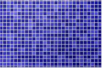 Poster Fliesen blauwe tegel blauw