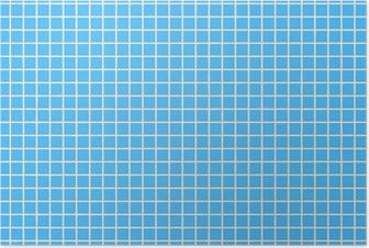 Poster Fliesen hellblau tegel lichtblauw