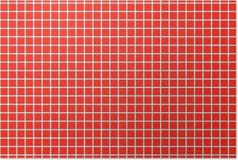 fliesen rot tile red Poster