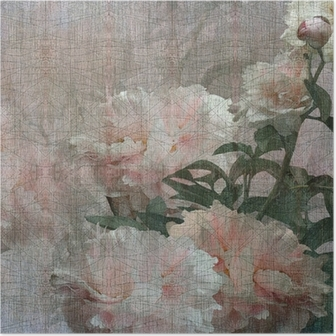 floral design peonies Poster