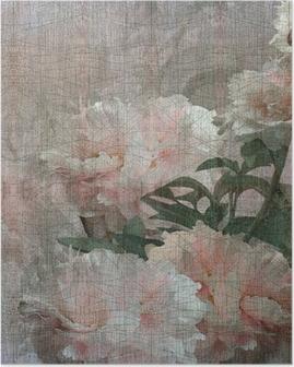 Poster Floral design pioenen