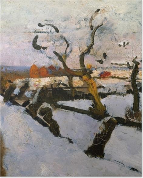 Poster Floris Verster - Etude de la neige - Reproductions