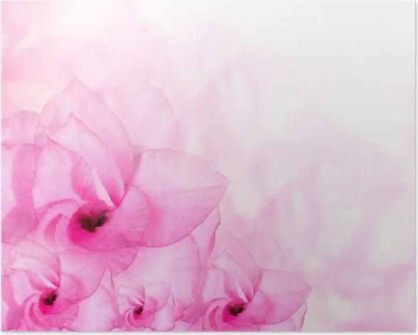 Flower background pink azalea flowers poster pixers we live to flower background pink azalea flowers poster mightylinksfo
