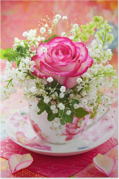 flowers in a cup poster pixers we live to change