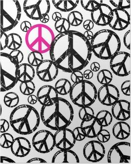 Poster Fond de hippie sans soudure