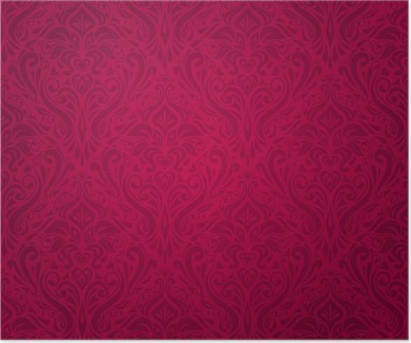 Poster Fond De Papier Peint Vintage Rouge Et De Luxe Pixers