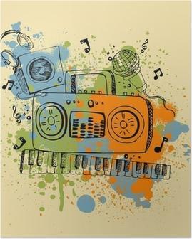 Poster Fond Musical