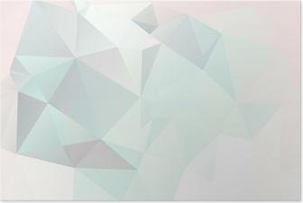 Poster Fond pastel abstrait géométrique avec des dégradés doux vecteur