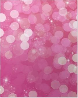 Póster Fondo de color rosa y purpurina - vie en rose