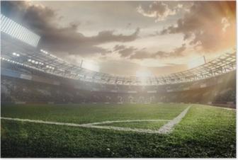 Póster Fondos de deporte. Estadio de fútbol.