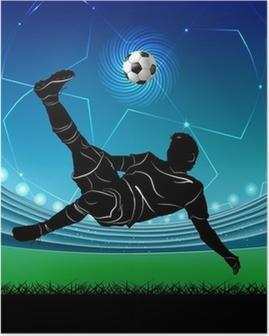 football player - scissors Poster