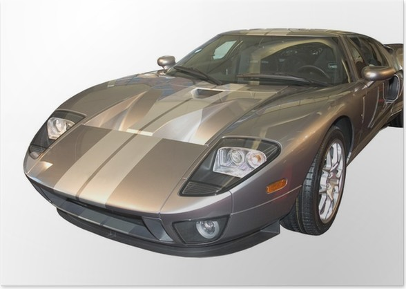 Ford Gt Poster On The Road