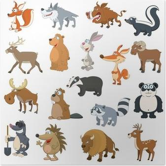 Forest animals set Poster