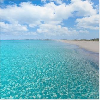 Formentera Llevant tanga turquoise beach Poster