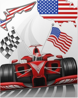 Formula 1 Race Car GP Austin USA Poster