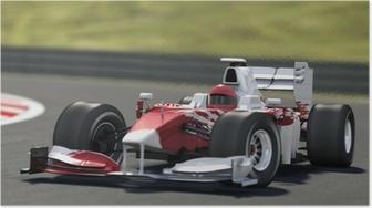 Poster Formule een racewagen