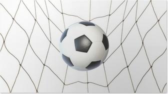 Poster Fotbollsmål. En fotboll i ett nät. Vektor bild • Pixers® - Vi ... 8dc62f833e496