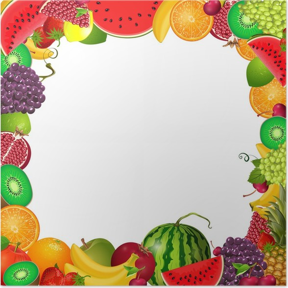 frame template of fruit for you design Poster • Pixers® • We live to ...
