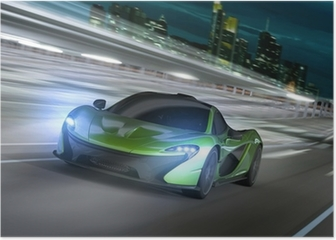 frankfurt city night racer Poster