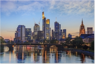 Frankfurt Skyline, Germany Poster