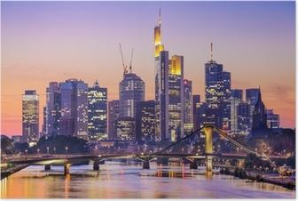 Poster Frankfurt, Tyskland City Skyline