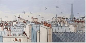 Poster Frankrike - Paris tak
