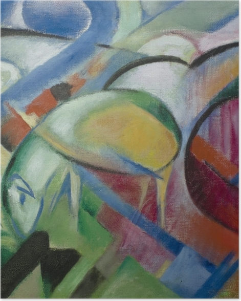 Poster Franz Marc - Le mouton - Reproductions