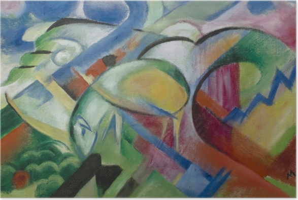 Poster Franz Marc - Ovce - Reproductions