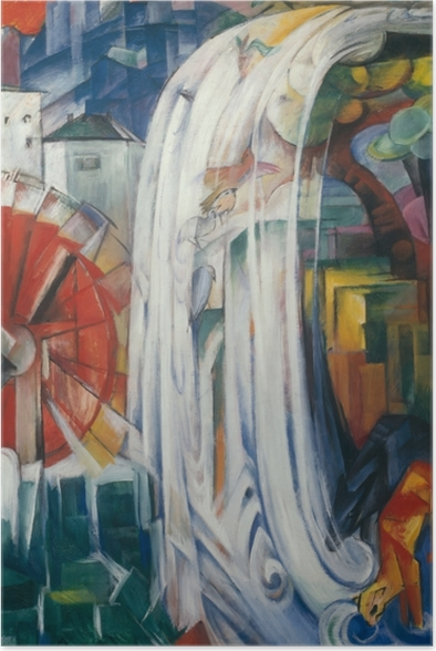 Franz Marc - The Bewitched Mill Poster - Reproductions