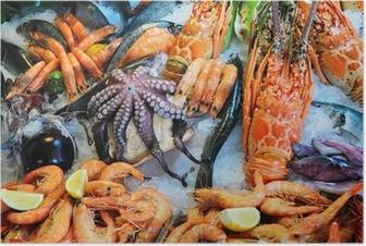 Fresh seafood Poster