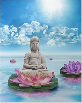 Poster Frihets Bouddha