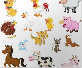 funny Farm animals set Poster